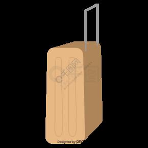 卡其色行李箱