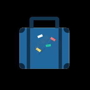蓝色行李箱拉杆箱旅游