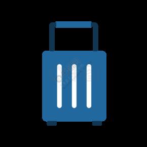 蓝色行李箱拉杆箱