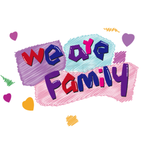 we are family 免抠创意造型字体