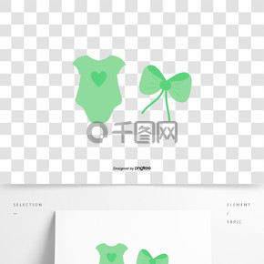绿色婴儿衣服蝴蝶结