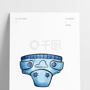 水彩可爱婴儿用品婴儿裤设计