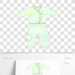绿色婴儿衣服插图