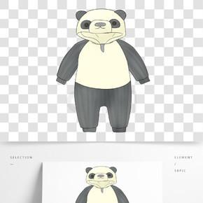 熊猫形状婴儿衣服