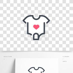 扁平可爱婴儿衣服图标
