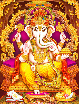 Hindu Lord <i>Ganesha</i> texture wallpaper  background