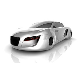 rendering isolated car